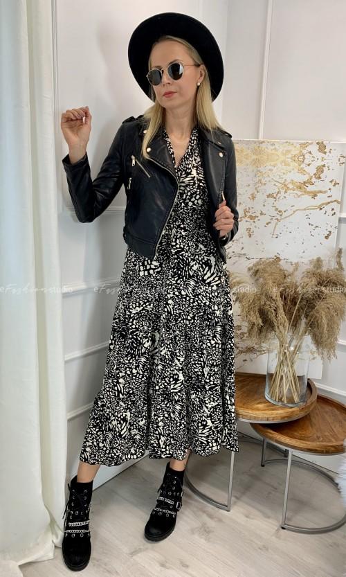 Sukienka Kopertowa Maxi PAOLA Black