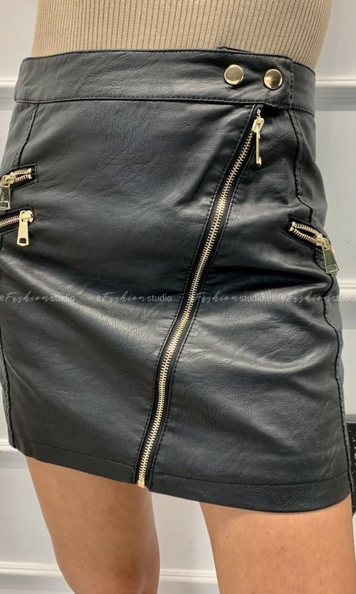 Spódniczka Eco Skóra PATI Black