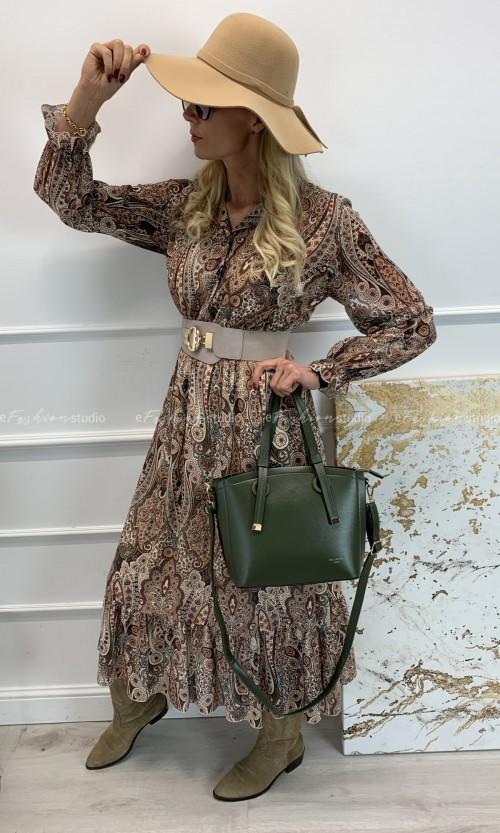 Sukienka RYANA Maxi Beige