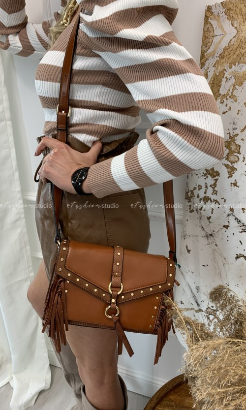 Torebka RODEO FRINGE BESTINI Brown
