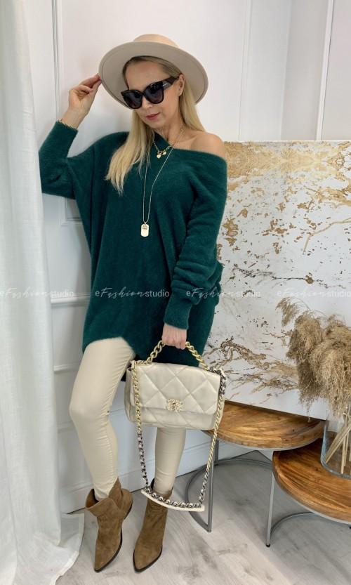 Sweter Tunika JESSI Alpaka Green