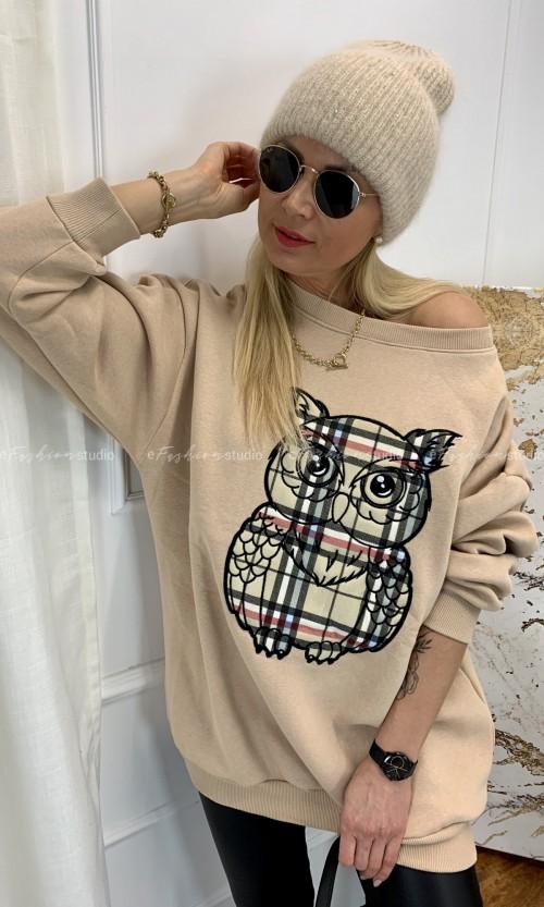 Bluza BERRY OWL Camel
