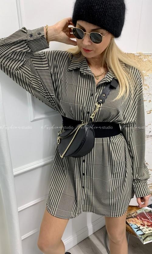 Sukienka tunika KLARA Pepita