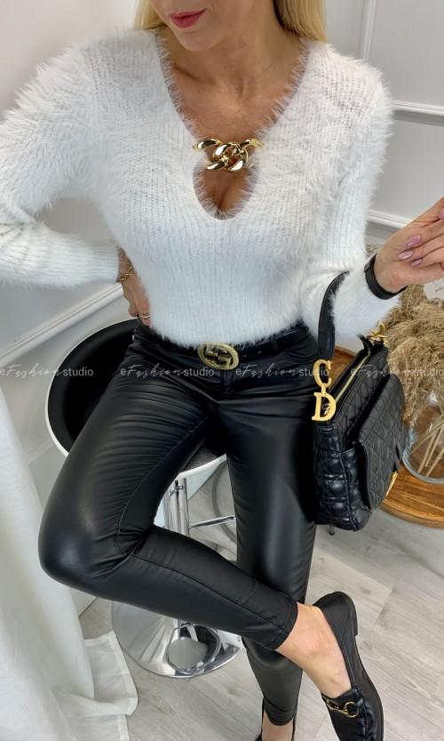 Sweterek MAY Chain White