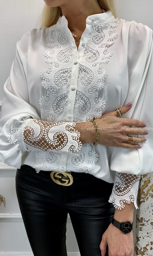 Bluzka Koszula PAOLA Oversize White