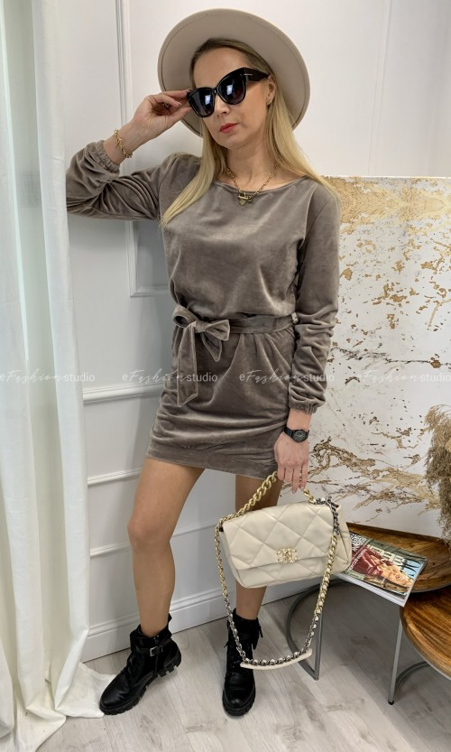 Sukienka FLAWNESS One Shoulder Taupe