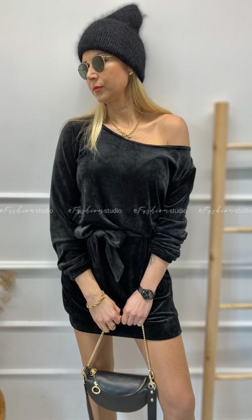 Sukienka FLAWNESS One Shoulder Black